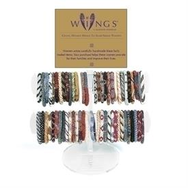 -ASSORTED NEPAL ANGEL 'WINGS' BRACELETS