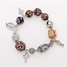 -,'CHRIST'S STORY' CLAY BEAD BRACELET