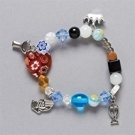 -'COMMUNION STORY' BEADED BRACELET