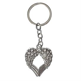 -WINGED HEART KEYCHAIN