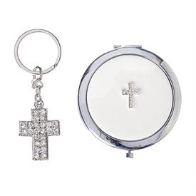 -CROSS KEYCHAIN & COMPACT SET