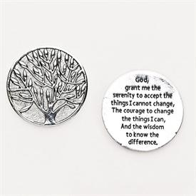-,SERENITY PRAYER POCKET TOKEN