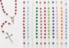 -ASSORTED CRACKLE BEAD ROSARIES