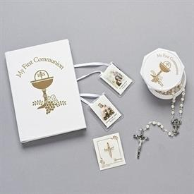 -,GIRL'S FIRST COMMUNION GIFT SET