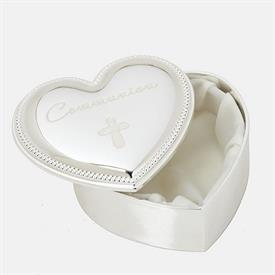-COMMUNION HEART KEEPSAKE BOX