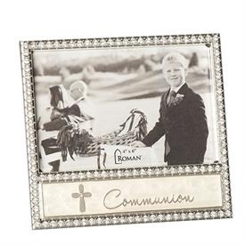 "-4X6"" CRYSTAL BORDER COMMUNION FRAME"