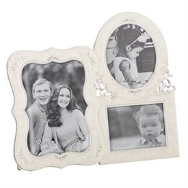 "-,TRIPLE IVORY FRAME. HOLDS ONE 2.5X3"" PHOTOS & TWO 3.5X5"""