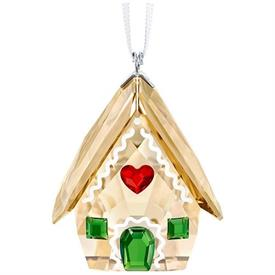 "-,GINGERBREAD HOUSE ORNAMENT. 1.5"" TALL, 1.2"" WIDE, 1"" DEEP"