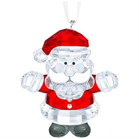 "-,SANTA CLAUS ORNAMENT. 1.8"" TALL, 1.6"" WIDE, 1"" DEEP"