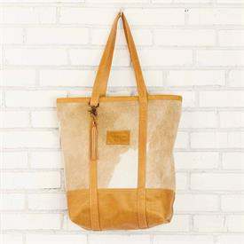 "-,SERENGETI BIG BUCKET BAG IN GOLDEN. 17"" HIGH, 12"" WIDE, 4.5"" DEEP. ALL BAGS VARY IN HAIR COLOR"