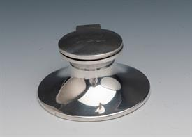 """Inkwell sterling silver made in England in Birmingham England 3.75 toz. gross about 1.5toz net 2.5"""" diameter"""