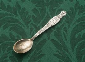 "MOBILE ALABAMA STERLING SOUVENIR SPOON 4"" LONG"