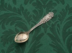"OLD TIME GOLFER STERLING SOUVENIR SPOON 3.75"" LONG"