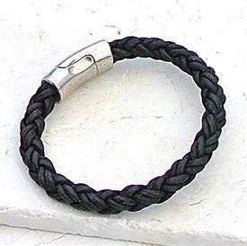 -,BLACK SILVER MAGNET CLASP BRACELET