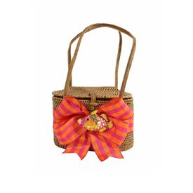 -,MANGO & PINK RIBBON WITH COLORFUL FISH PURSE