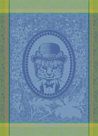 -,MONSIEUR CHAT BLEU KITCHEN TOWEL. 22X30""