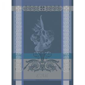 "-,AIL BLEU KITCHEN TOWEL. 22"" X 30"". 100% COTTON"
