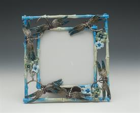 ",-4X4"" SQUARE DRAGONFLY FRAME IN BLUE"