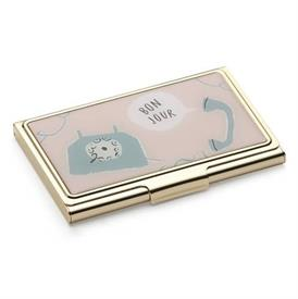 -,'BON JOUR' BUSINESS CARD HOLDER