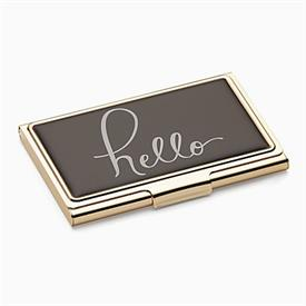 -,'HELLO' BUSINESS CARD HOLDER