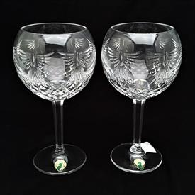 ",PAIR 'PEACE' TOASTING GOBLETS. 8"" TALL"