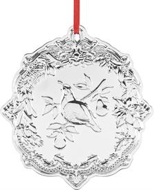 "-Partridge in a Pear Tree Sterling Silver Ornament by Reed & Barton made in USA 3.75""H 1st Edition of Twelve Days of Christmas Collection"