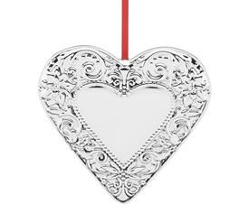 "-Annual Heart Ornament Sterling Silver 1st Edition 3.25"" Height by Reed & Barton made in USA SKU#877599 MSRP $150 gift boxed with red ribbo"