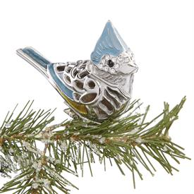 """-,Tufted Titmouse Bird Clip Ornament made by Reed & Barton in USA Height 2"""" SKU#877862 MSRP $50 Bird looks perched on branch because clipped"""