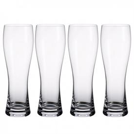 -SET OF 4 BEER PILSNER GLASSES, 7.75""