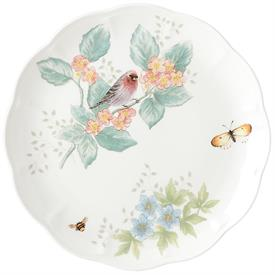 "-RED POLL FINCH DINNER PLATE. 11"" WIDE. MSRP $25.00"