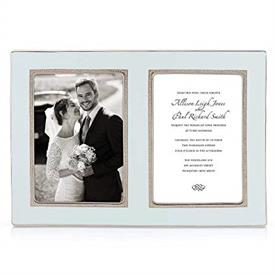"-DOUBLE 5X7"" INVITATION FRAME. BREAKAGE REPLACEMENT AVAILABLE. MSRP $150.00"