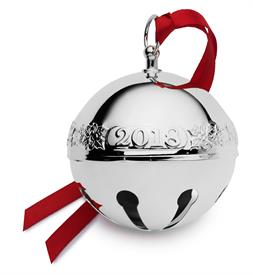 -,24th STERLING Sleigh Bell Sterling Silver Year 2018 - 24th Edition (Holly & Santas) made by Wallace is USA MSRP $525 SKU# 73093670234