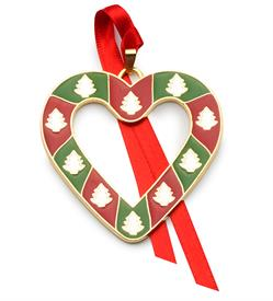 _9th Ed.Heart Wonders of Christmas (Heart w/trees) Ornament made by Wallace in USA MSRP $60 UPC#73093670418 MARKED DOWN 12-11-18