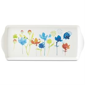 "-15"" FLORAL TRAY, MELAMINE"