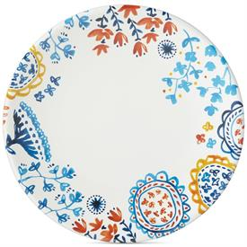 -FLORAL BORDER DINNER PLATE, MELAMINE