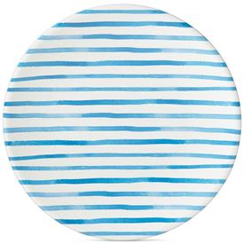 -BLUE STRIPE DINNER PLATE, MELAMINE
