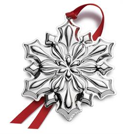 -,Snowflake 2018 Sterling Silver Ornament made by Gorham in USA 49th Edition MSRP $225 UPC#730936070432