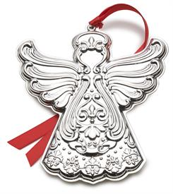 -,Chantilly Angel Ornament Sterling Silver Ornament made by Gorham in USA 11th Edition MSRP $240 UPC#730936070449