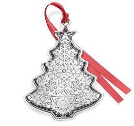 -,Christmas Tree Sterling Silver Ornament 2nd Edition made by Gorham in USA MSRP $225 UPC#7309365070463 Year 2018