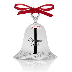 -,Pierced Bell Silver Plated Ornament 39th Edition Year 2018 made by Towle in China Candy Border MSRP $49.95 UPC#044228043340