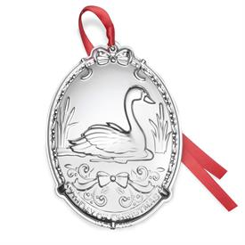 """-,7TH ED. 12 Days of Christmas Ornament 7th Edition """"Seven Swans a-swimming"""" Year 2018 made by Towle MSRP $60 UPC#044228043364"""