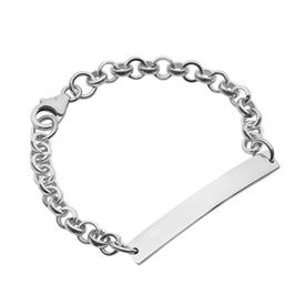 -CHAIN CHILD/BABY STERLING SILVER ID BRACELET