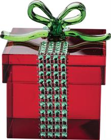 _RED GIFT BOX. MSRP $40.00 MADE OF CRYSTAL BY SIMON DESIGN