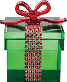 _GREEN GIFT BOX. MSRP $40.00 MADE OF CRYSTAL  BY SIMON DESIGN