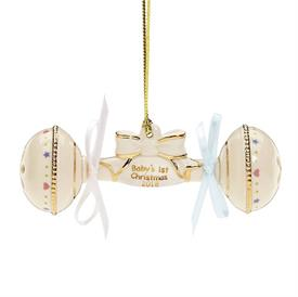 -,2018 BABY'S 1ST CHRISTMAS RATTLE ORNAMENT. MSRP $60.00