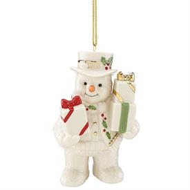 "-,2018 'HAPPY HOLLY DAYS' SNOWMAN ORNAMENT. 'GIFTS GALORE'. 4"" TALL. MSRP $60.00"