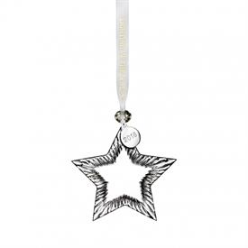 "-,2018 STAR ORNAMENT. 4"" WIDE"