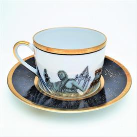 """,TEA CUP & SAUCER. CUP MEASURES 2 1/4"""" X 3 1/8"""". SAUCER MEASURES 5.5"""""""