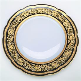 ",DINNER PLATE. TWO LAYERS OF GOLD INCRUSTED DECORATIONS. 10.25"" WIDE"