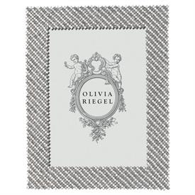 "-,5X7"" THOMPSON FRAME IN SILVER WITH CLEAR & GREY SWAROVSKI CRYSTALS"